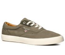 Herren Schuhe Sneaker, Twill, greige grau