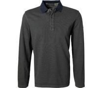 Polo-Shirt Baumwoll-Jersey dunkel gestreift