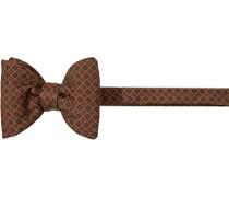 Krawatte Schleife Seide rotbraun