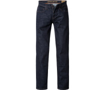 Herren Jeans, Straight Fit, Baumwoll-Stretch, indigo blau