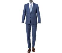 Anzug Allen-Mercer Slim Fit Schurwolle blau