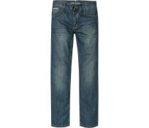 Herren Jeans Modern Fit Baumwolle denim blau