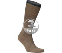 Herren Socken Woll-Mix hell meliert