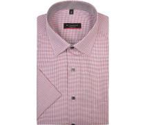 Herren Hemd, Modern Fit, Baumwolle, rot gemustert