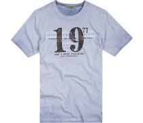 Herren T-Shirt Baumwoll-Jersey hell meliert