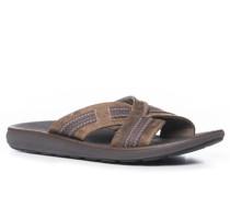 Herren Schuhe Sandalen Nubukleder braun