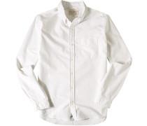 Herren Hemd, Oxford, off white weiß