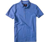 Herren Polo-Shirt, Baumwoll-Piqué, tintenblau
