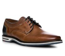 Schuhe Derby Diego Kalbleder cognac