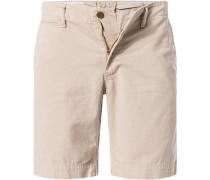 Herren Hose Shorts, Baumwolle, beige