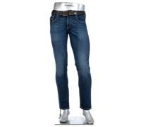 Jeans Slipe, Tapered Fit, Baumwoll-Stretch 12,5oz