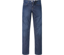 Herren Jeans Baumwolle dunkel