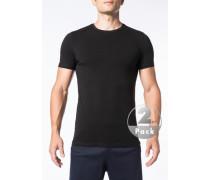 Herren T-Shirts Baumwoll-Stretch schwarz