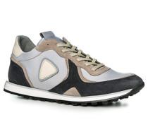 Herren Schuhe Sneaker, Textil, blau-grau