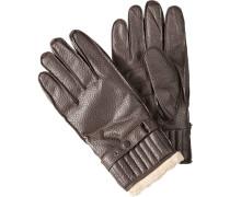 Herren  Handschuhe Nappaleder dunkelbraun