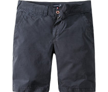 Herren Hose Shorts Baumwolle marine