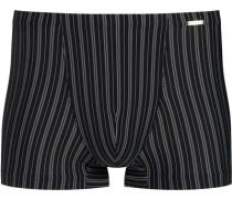 Herren Unterwäsche Trunk, Mikrofaser, schwarz gestreift