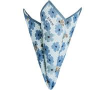 Herren Accessoires Einstecktuch Seide blaugrau-braun floral