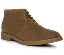 Herren Schuhe Desert-Boots Veloursleder braun