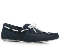 Herren Schuhe Loafer, Kautschuk, navy blau