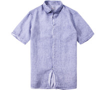 Herren Hemd Modern Fit Leinen flieder violett