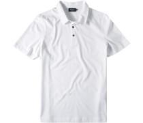 Herren Polo-Shirt Baumwoll-Jersey weiß