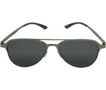 Herren Brillen adidas, Sonnenbrille, Metall, dunkelsilber grau