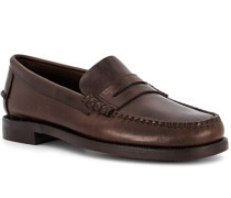 Schuhe Loafer Leder dunkel