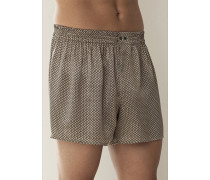 Herren Schlafanzug Boxer-Shorts Seide in 3 Farben