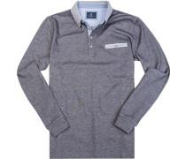 Herren Polo-Shirt Baumwoll-Pique dunkel meliert