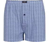 Herren Unterwäsche Boxershorts, Baumwolle, blau gemustert