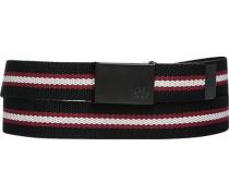 Herren Gürtel schwarz-rot gestreift Breite ca. 3,5 cm