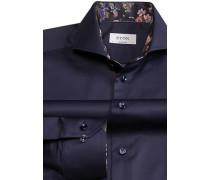Herren Hemd Contemporary Fit Twill navy blau