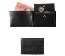 Herren Geldbörse, Leder, schwarz