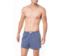 Herren Unterwäsche Boxershorts, Baumwolle, navy gestreift blau