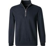 Pullover Troyer Baumwolle nacht meliert