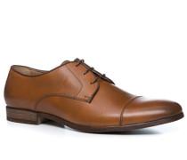 Herren Schuhe Derby Kalbleder cognac braun
