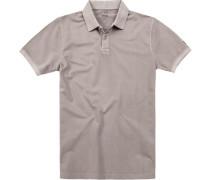 Herren Polo-Shirt Baumwolle grau