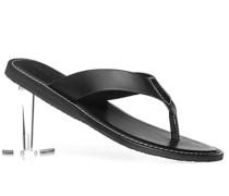 Herren Schuhe Zehensandalen Kalbleder schwarz