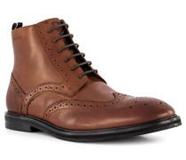 Schuhe Schnürboots Leder cognac