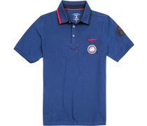 Herren Polo-Shirt, Baumwolle, royal blau