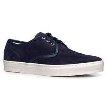 Herren Schuhe Sneaker, Veloursleder, nachtblau