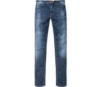 Herren Jeans, Skinny Fit, Baumwolle 9 oz, indigo blau