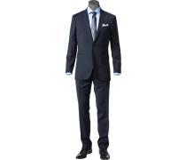Herren Anzug Semi-Slim Fit Wolle F.lli Cerruti tintenblau