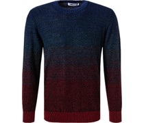 Pullover Wolle -rot meliert