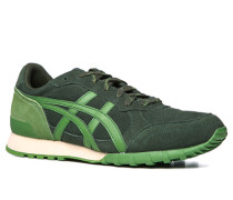 Herren Schuhe Sneaker Veloursleder dunkelgrün grün,grün