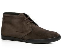 Herren Schuhe Desert Boots Veloursleder dunkelbraun braun,schwarz