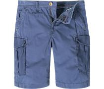 Herren Hose Cargo-Shorts Baumwolle tinte