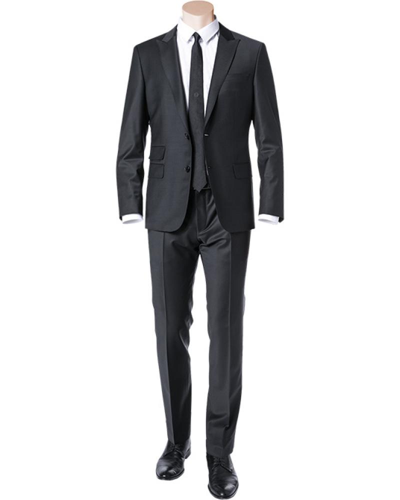 fit anz ge hugo boss herren anzug slim fit schurwoll stretch schwa. Black Bedroom Furniture Sets. Home Design Ideas