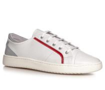 Herren Schuhe Sneaker, Nappaleder, weiß
